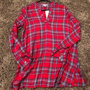 Gianni Bini flannel style tunic.